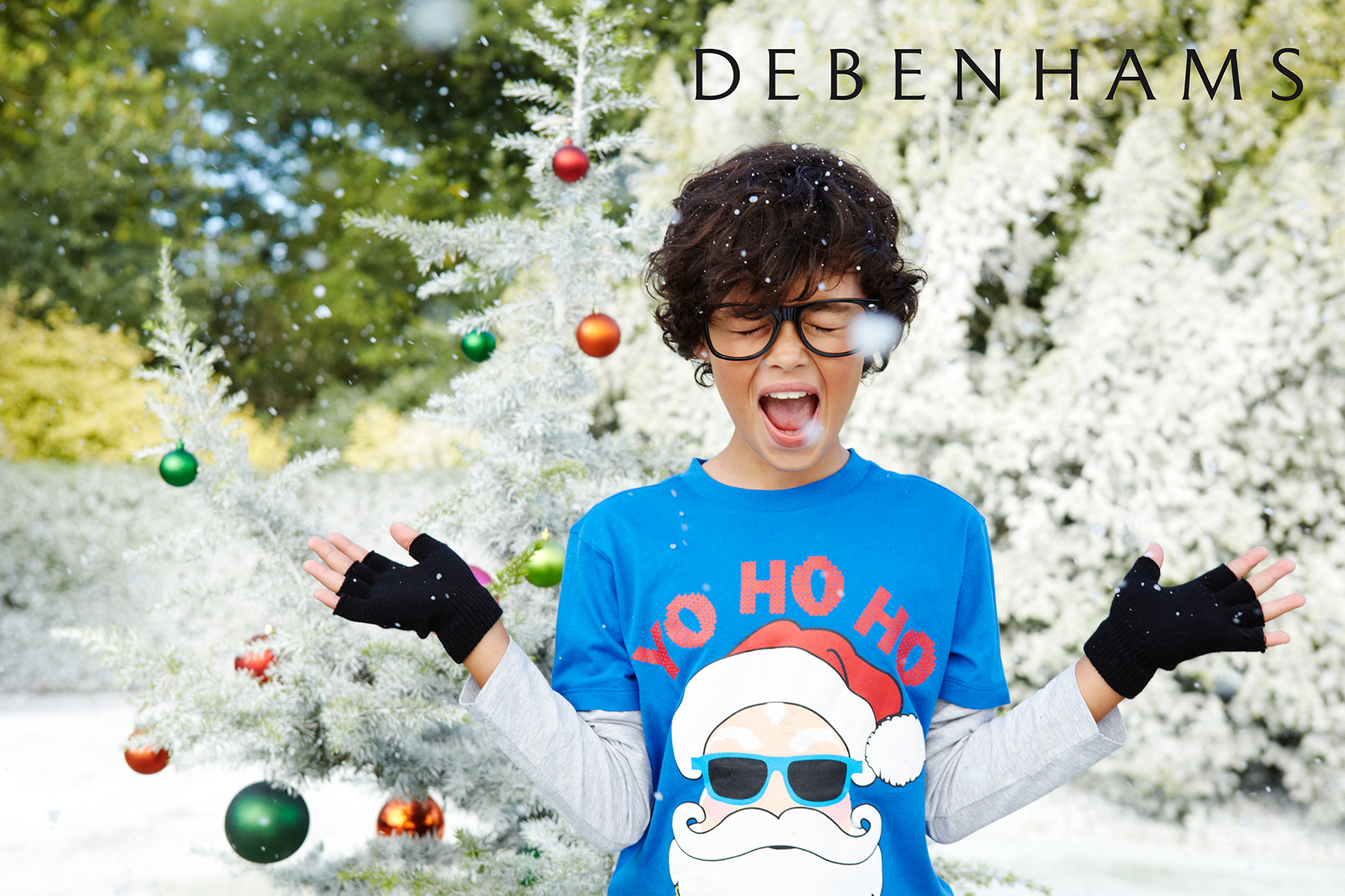 Debenhams kids fashion campaign christmas