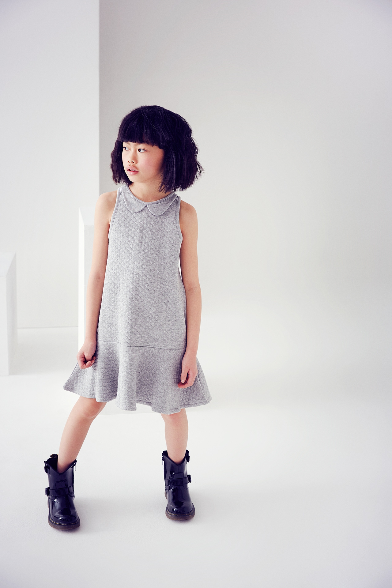 Kids fashion story monochrome girl