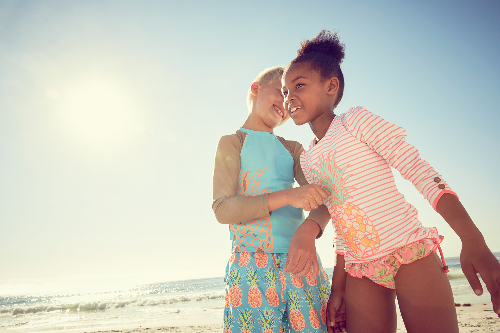 friends of beach kids fashion swimwear whispering