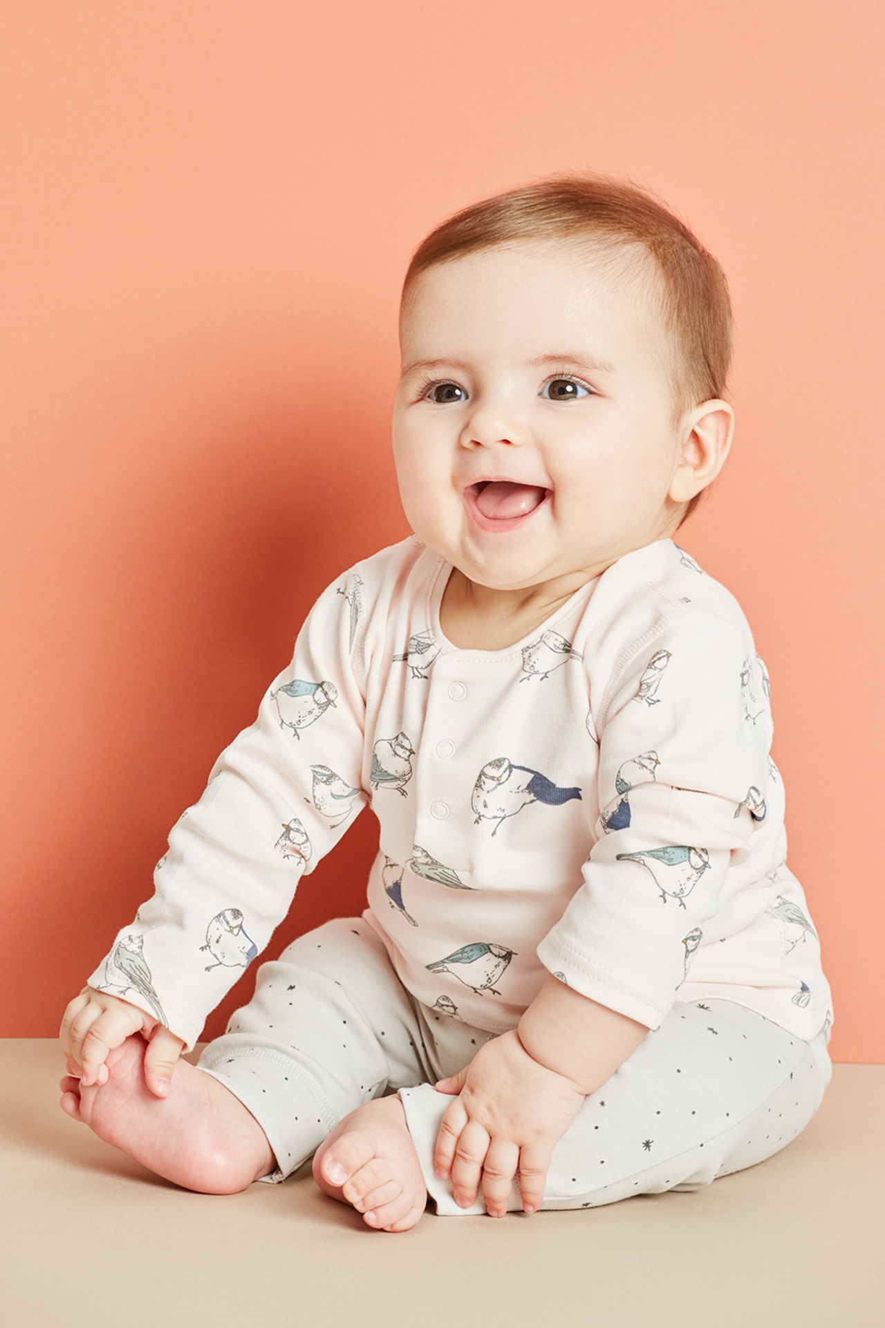 Laughing baby fashion