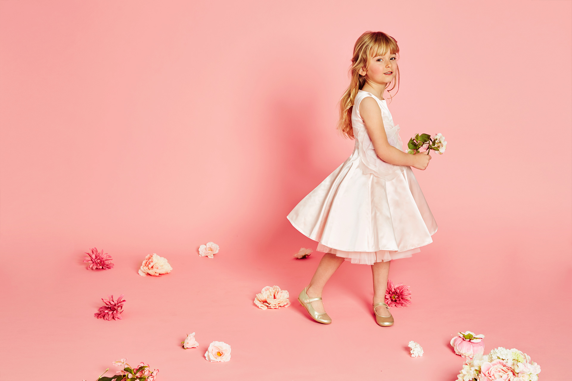 girl bridesmaid dress fashion kids