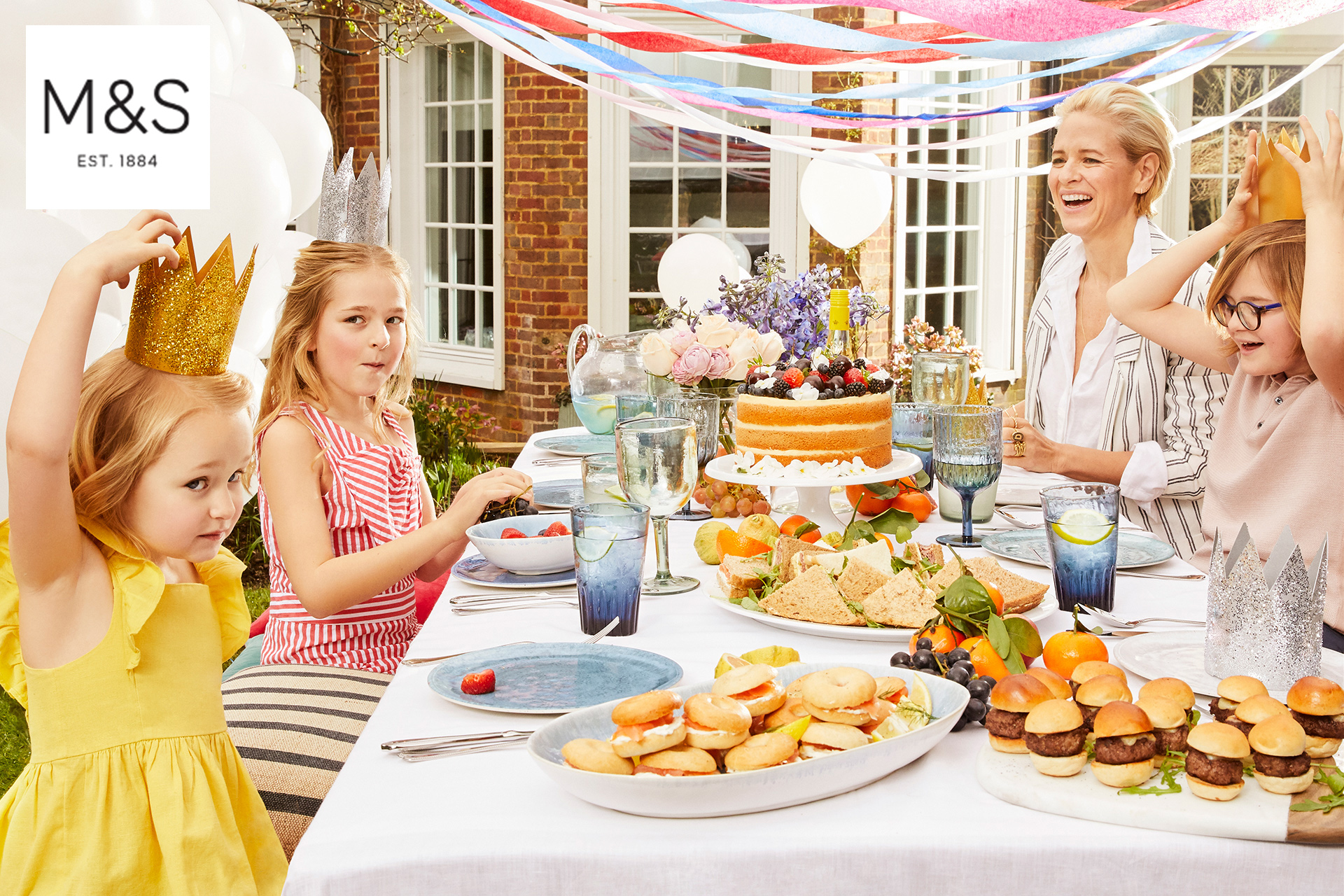 Marks and Spencers kids fashion garden party 3