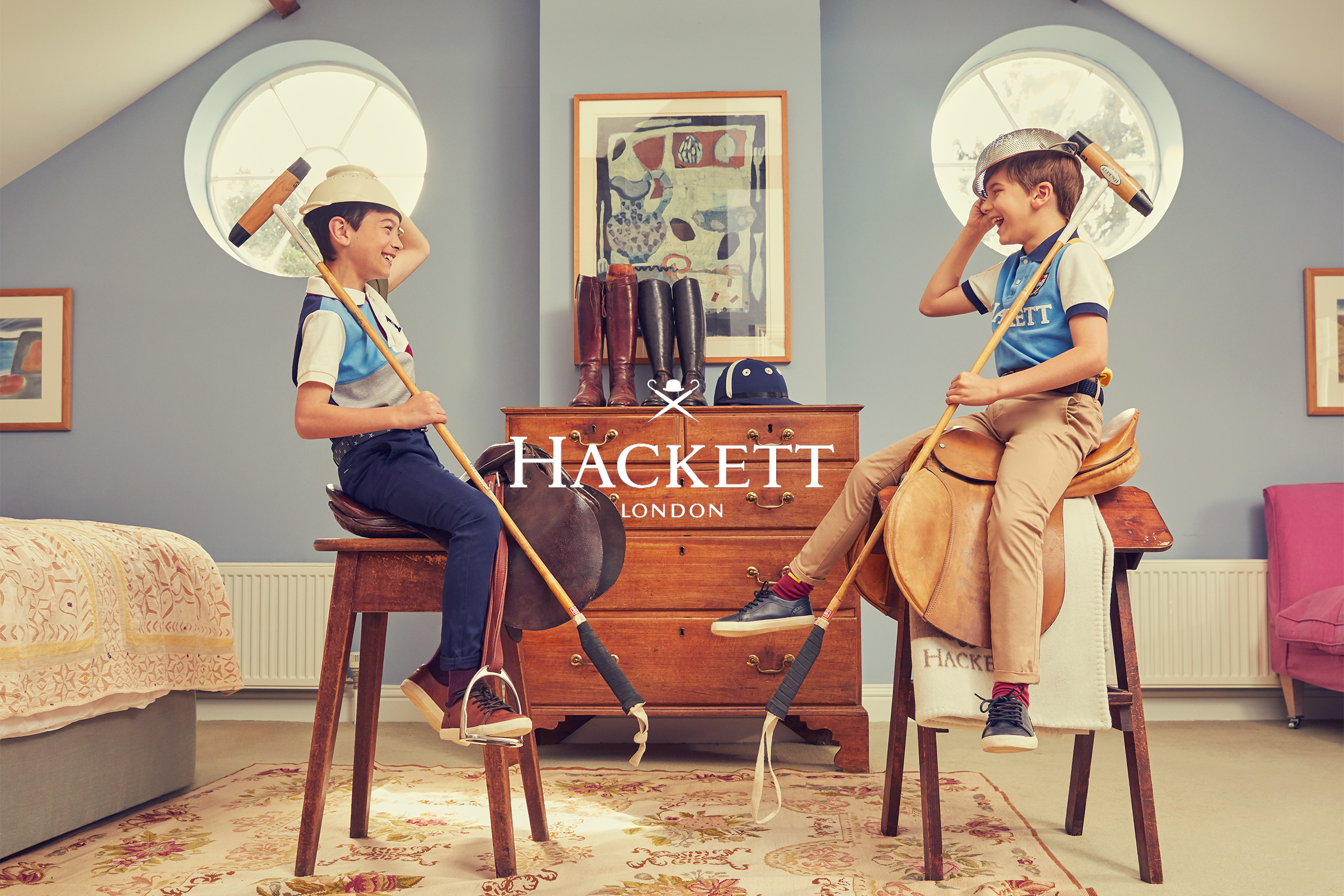 Hackett boys kids fashion campaign Autumn Winter