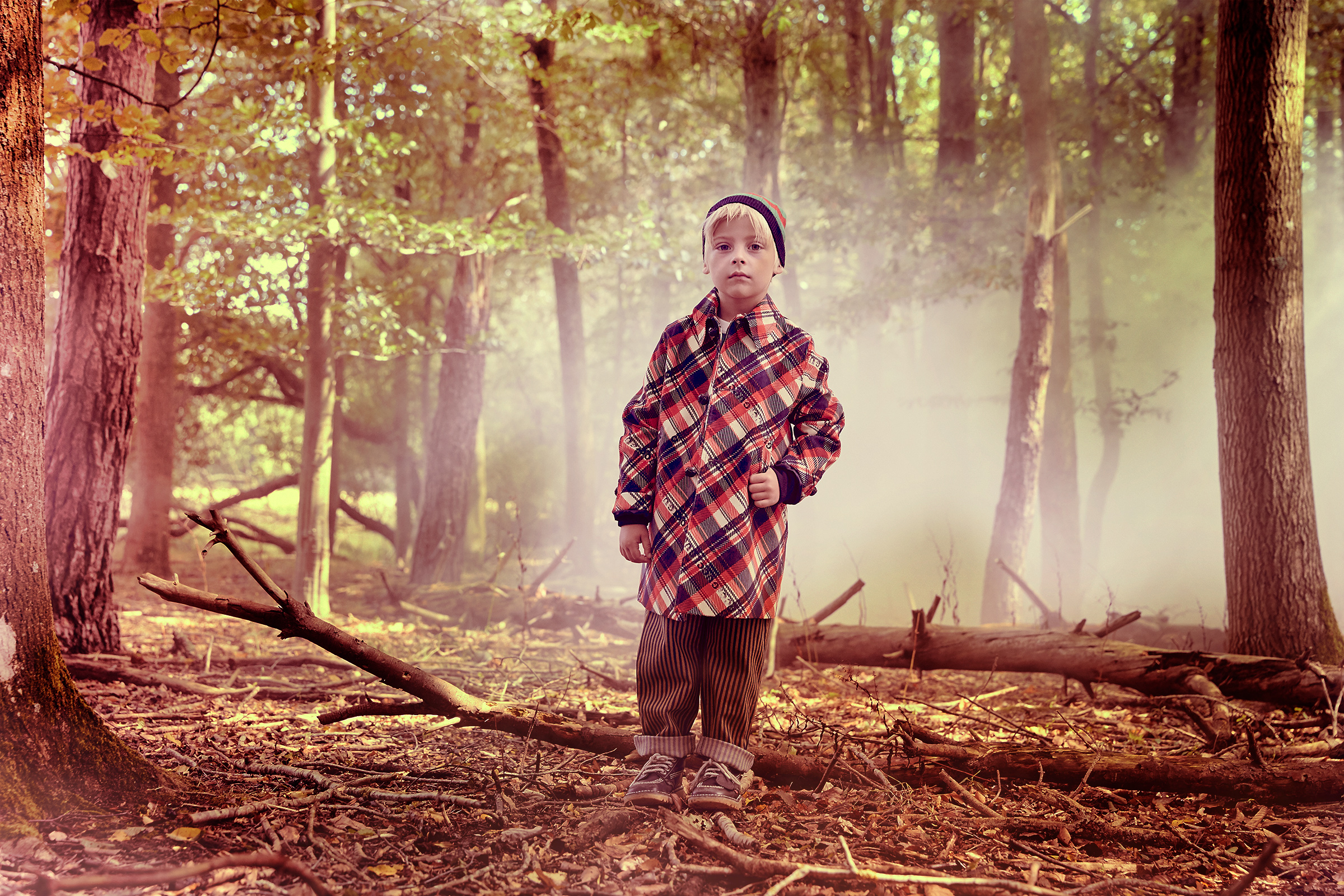 Boy woodland fashion story