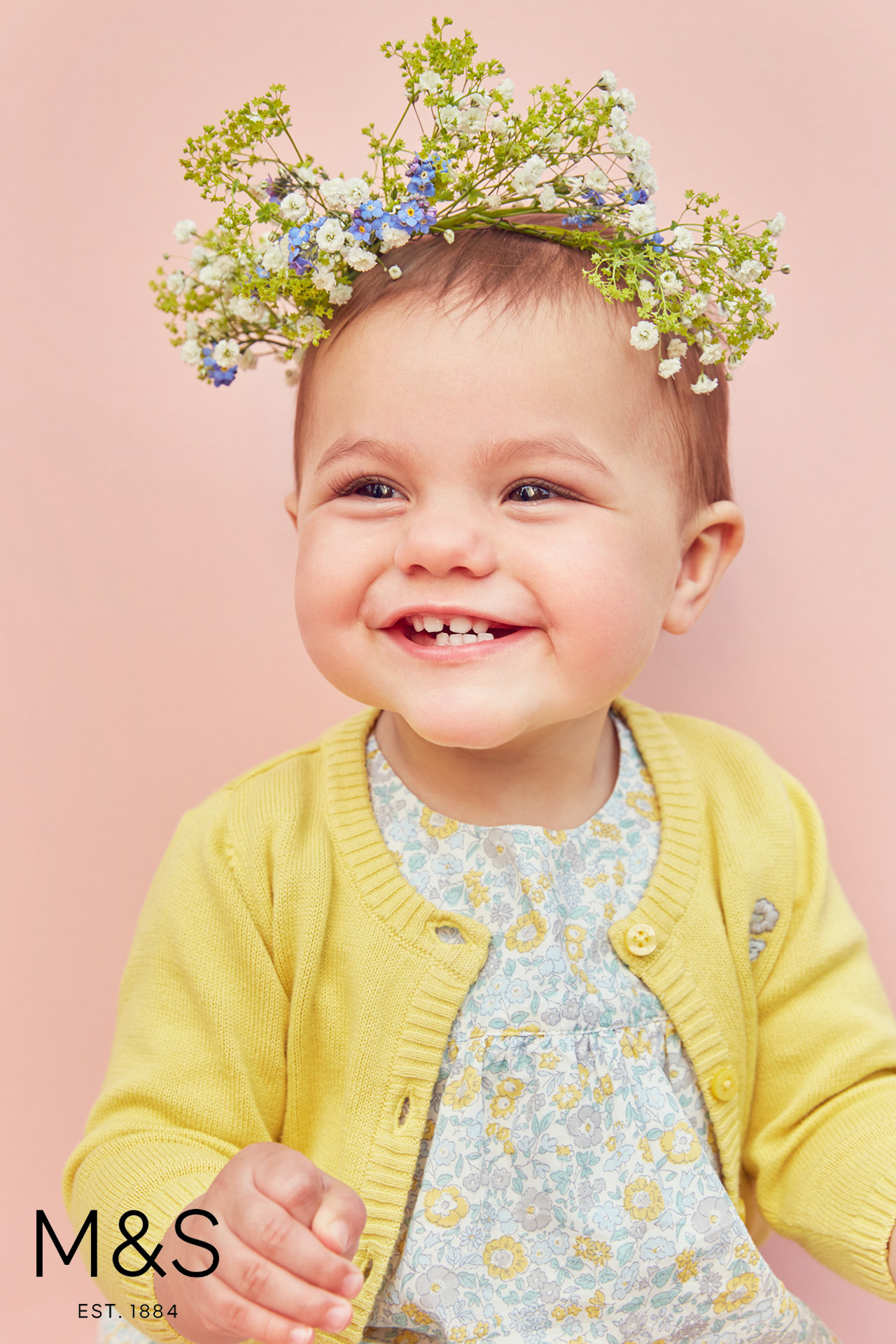 Marks and Spencers kids fashion baby floral pink