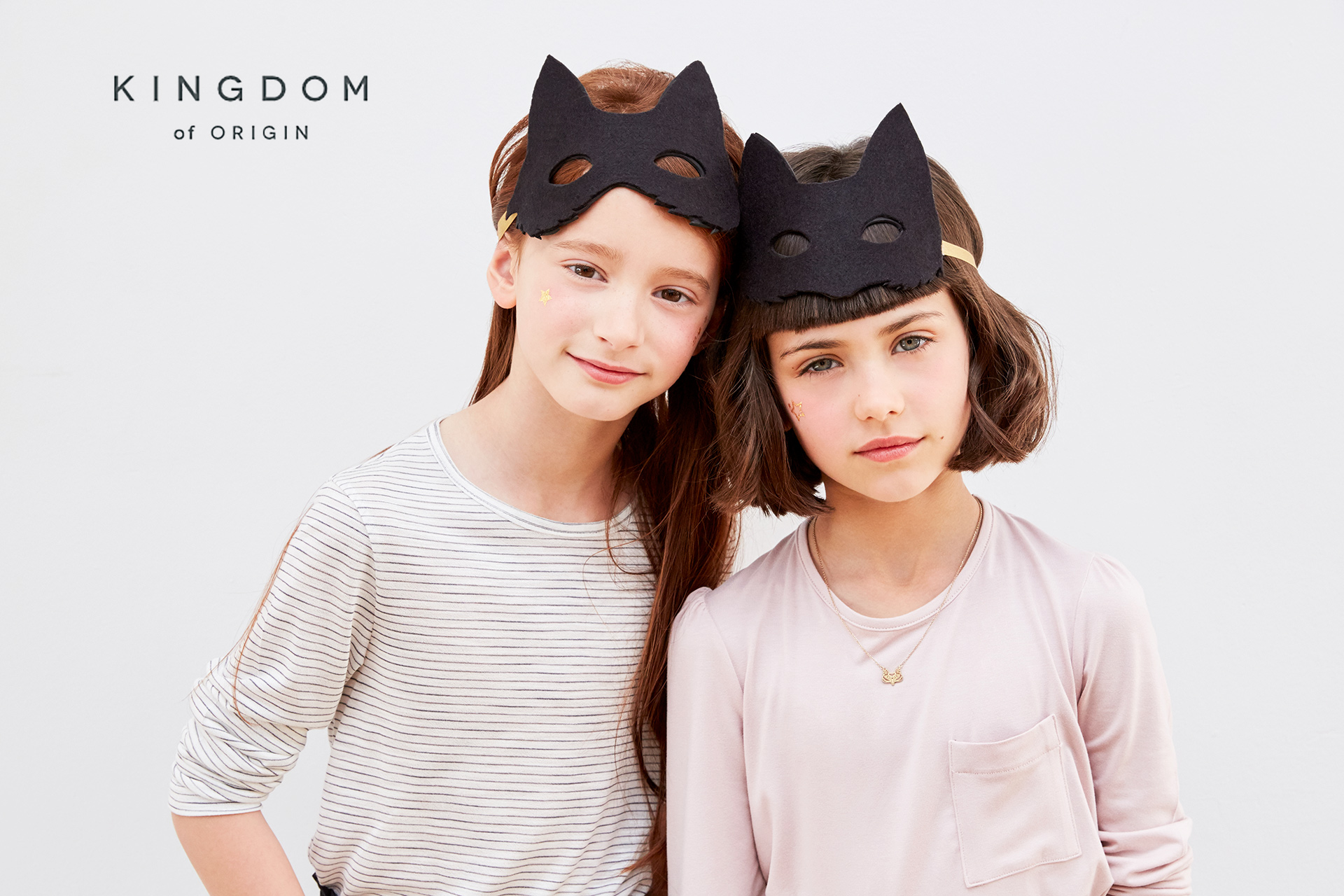 KOO girl kids fashion with cat masks
