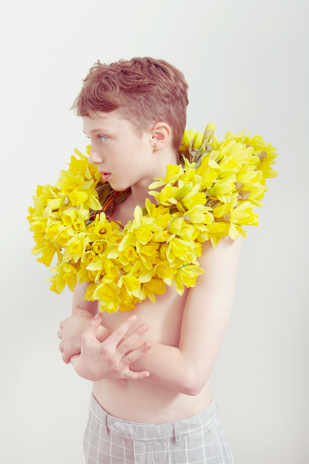 Milk magazine_kids fashion_botanical boy daffodils