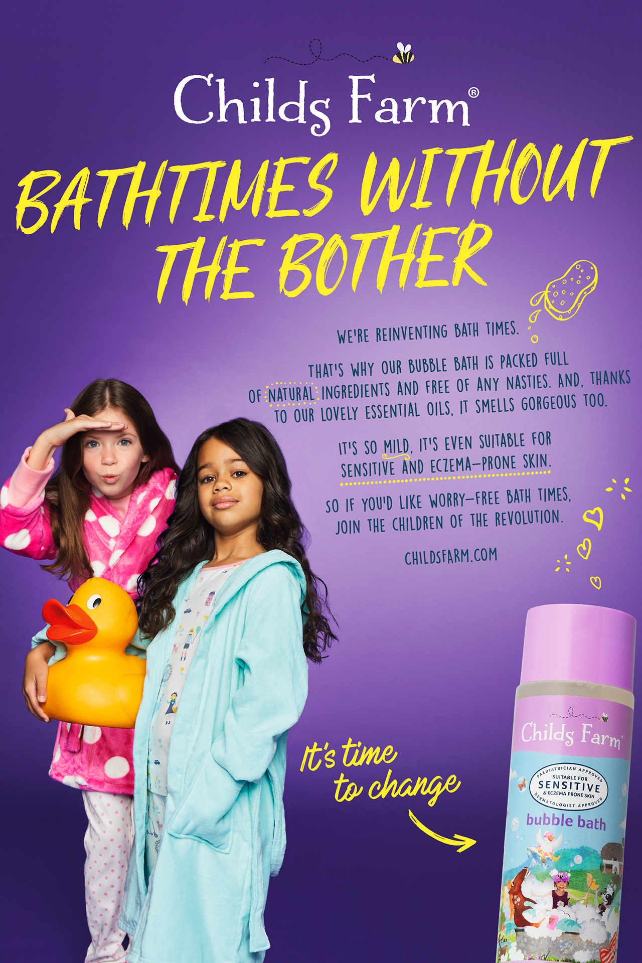 Childs Farm Advert BATHTIMES WITHOUT THE BOTHER  Emma Tunbridge