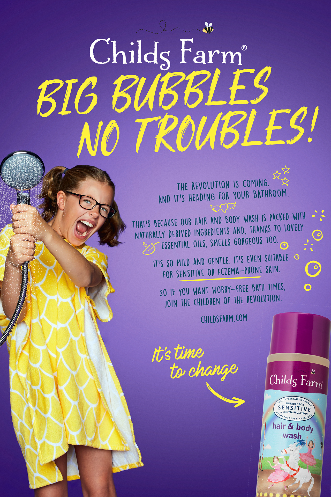 Childs Farm Advert BIG BUBBLES NO TROUBLES 2