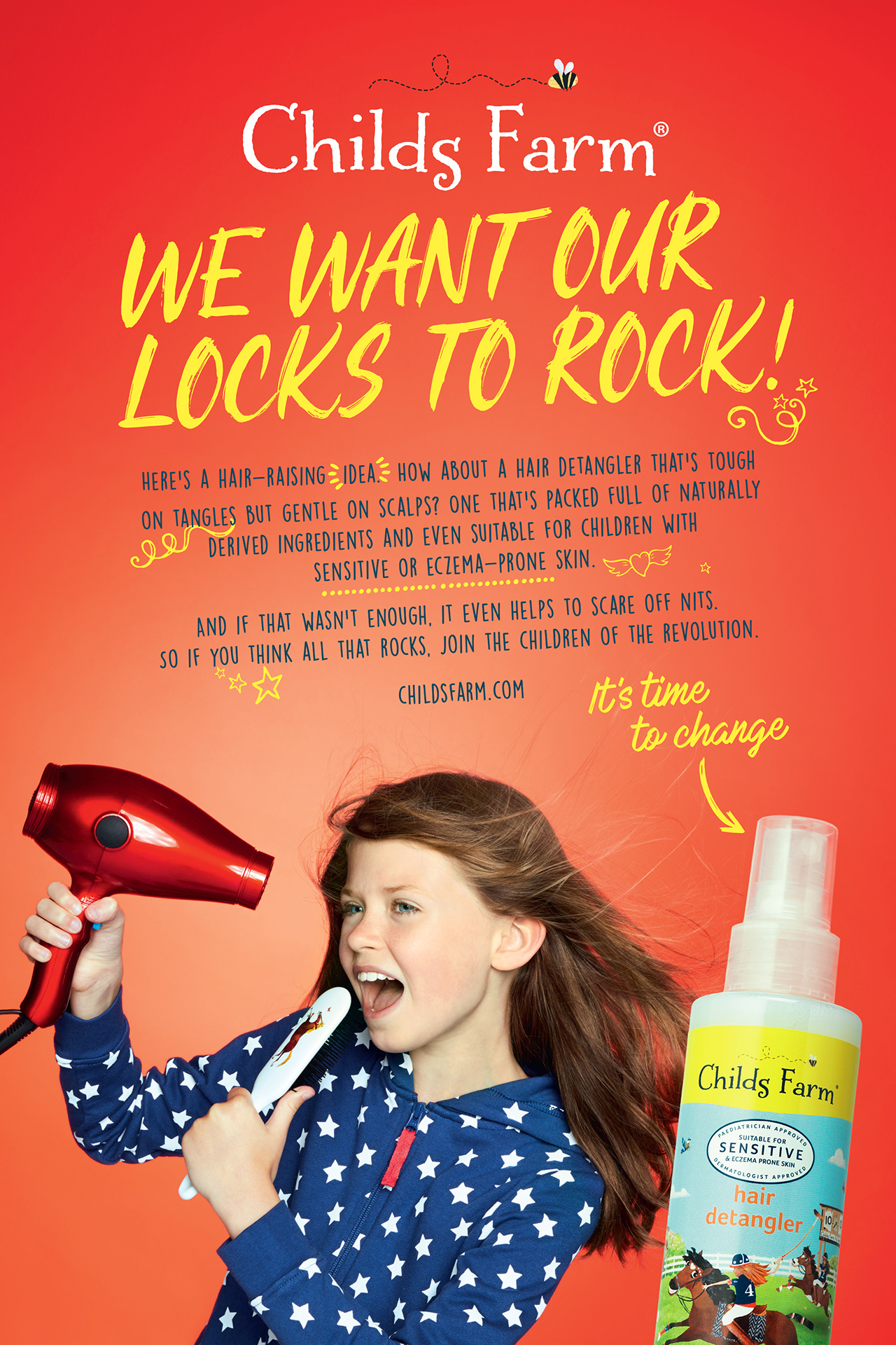 Childs Farm  Advert LOCKS TO ROCK
