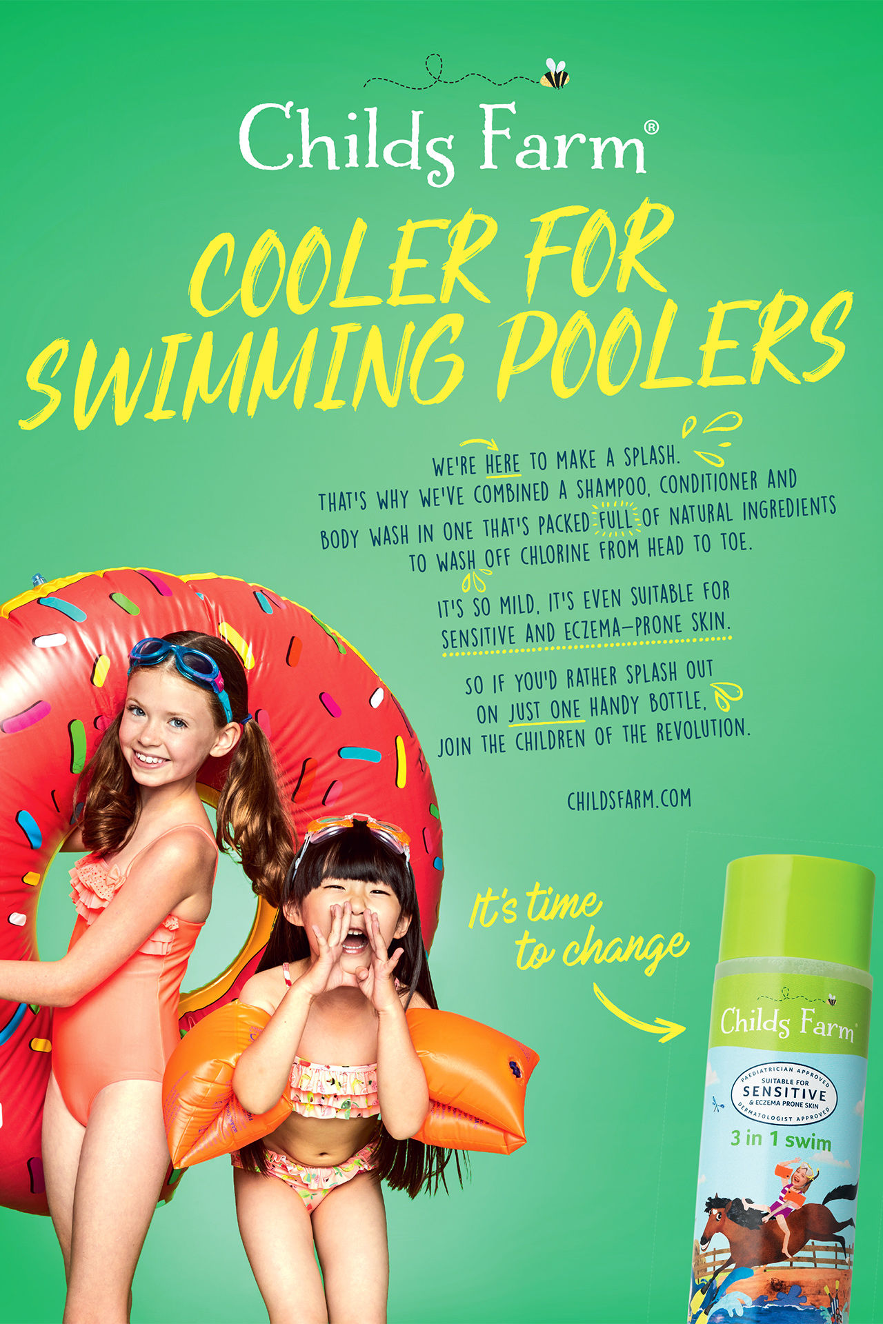 Childs Farm  Advert SWIMMING POOLERS Emma Tunbridge