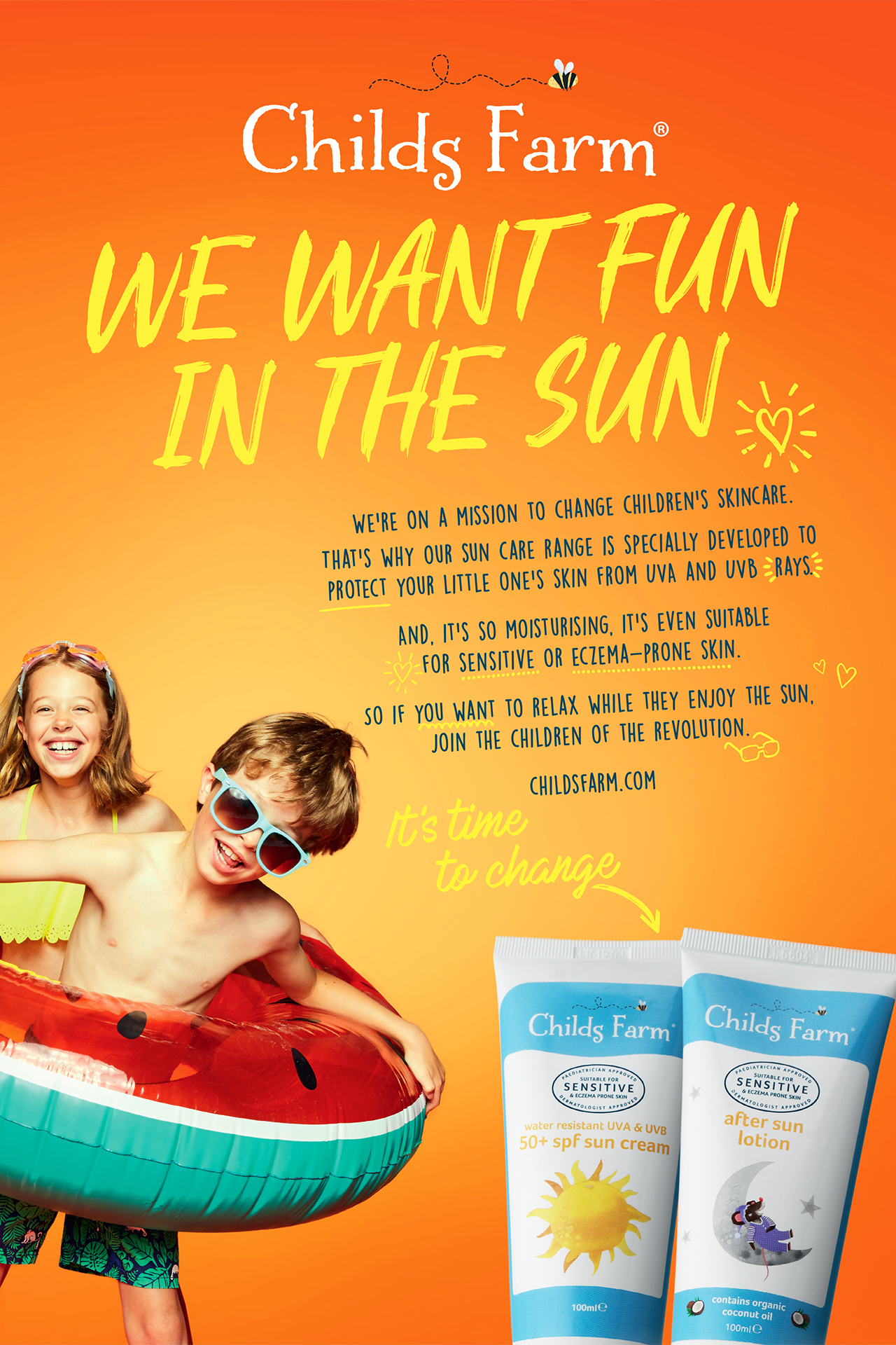 Childs Farm Advert WE WANT FUN IN THE SUN