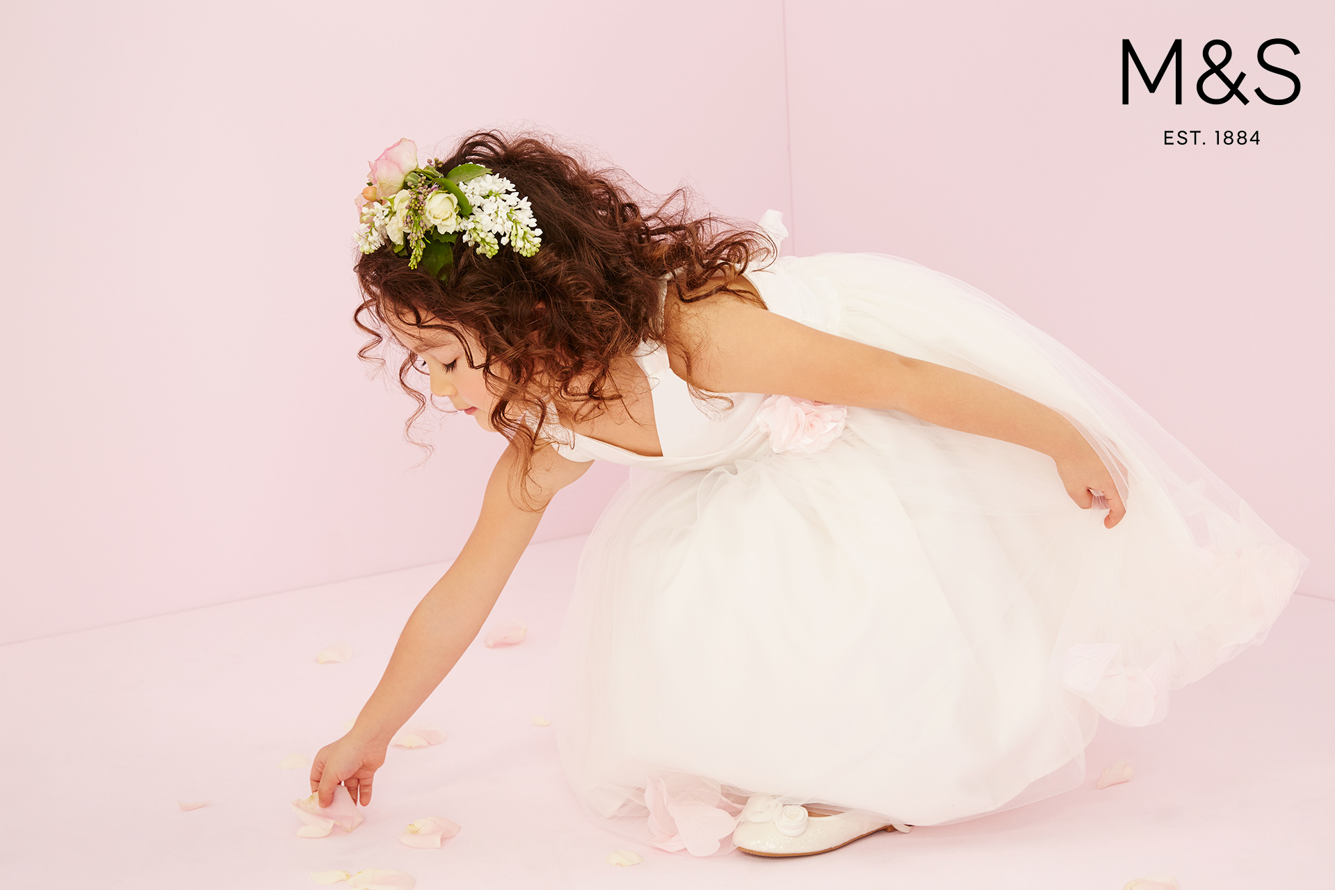 Marks and Spencers kids fashion wedding campaign SS