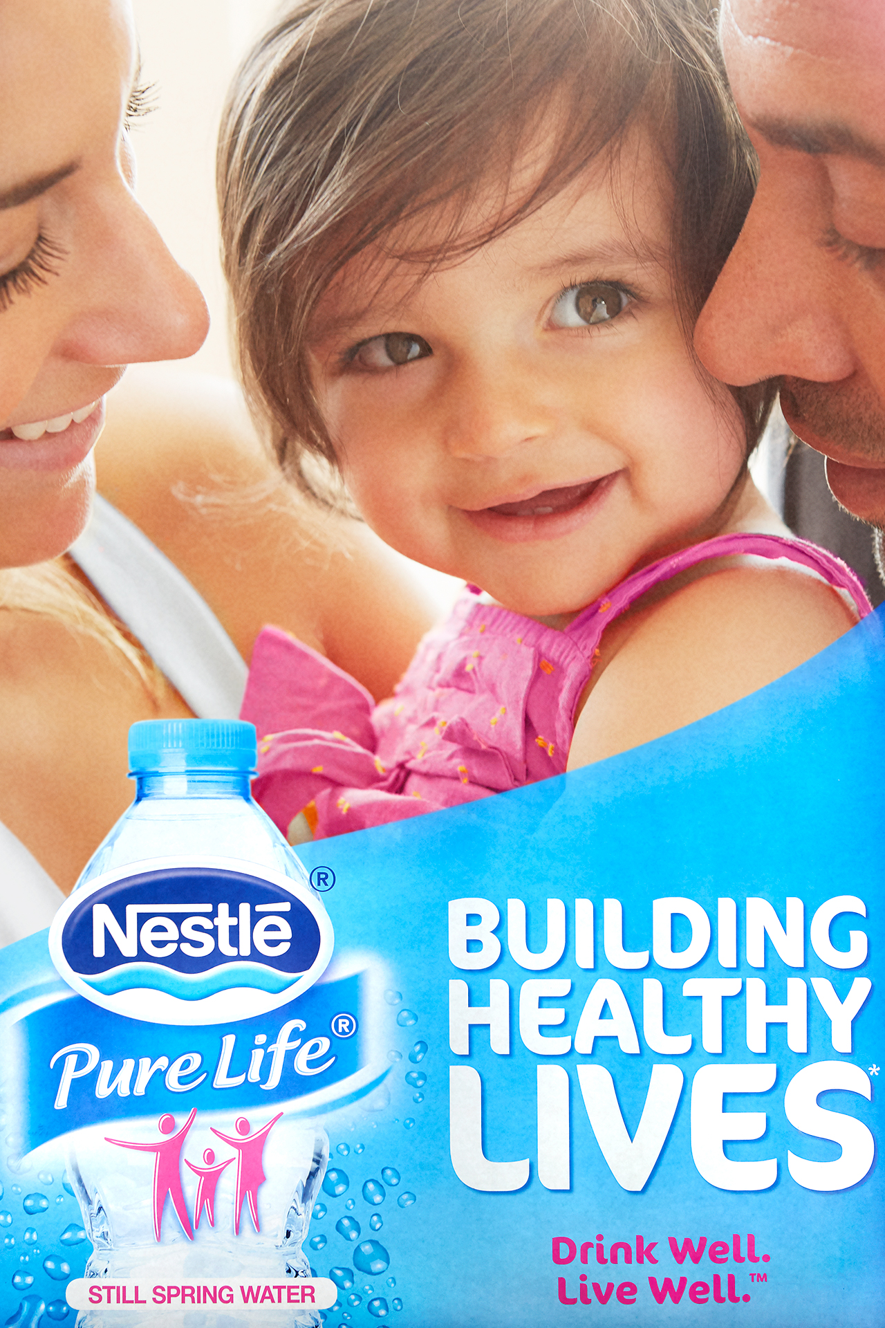 Nestle family bonding together with young toddler