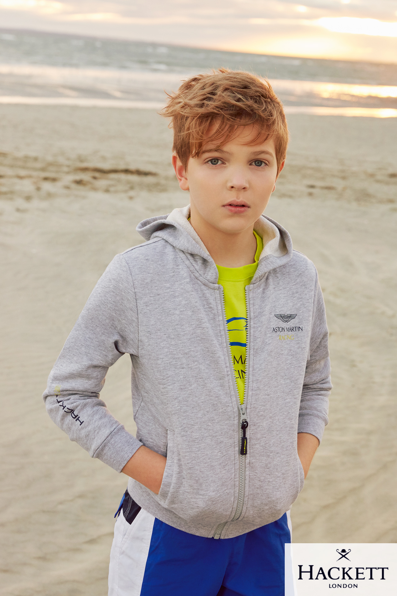 Hackett boys kids fashion campaign Spring Summer beach