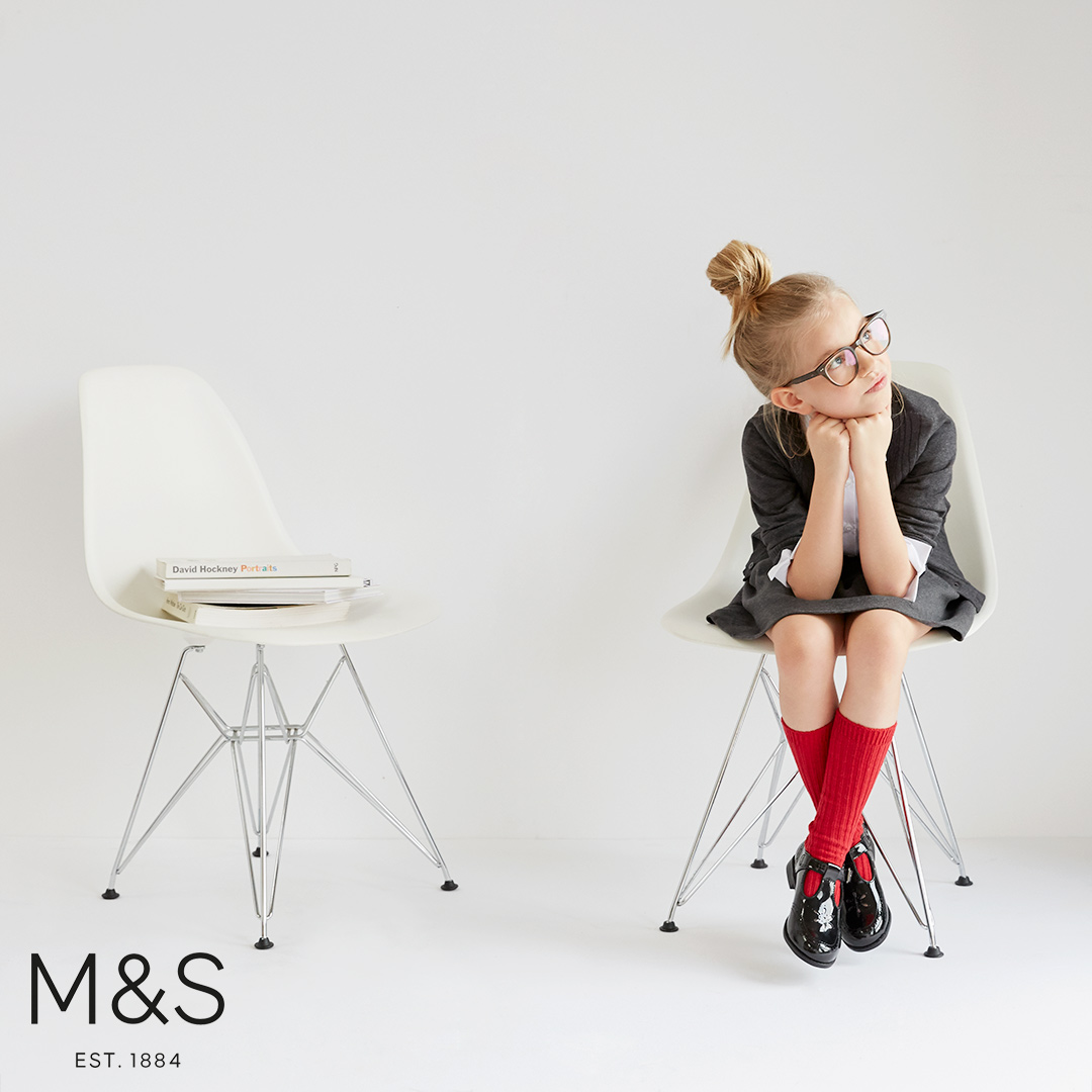 Marks and Spencers kids fashion school