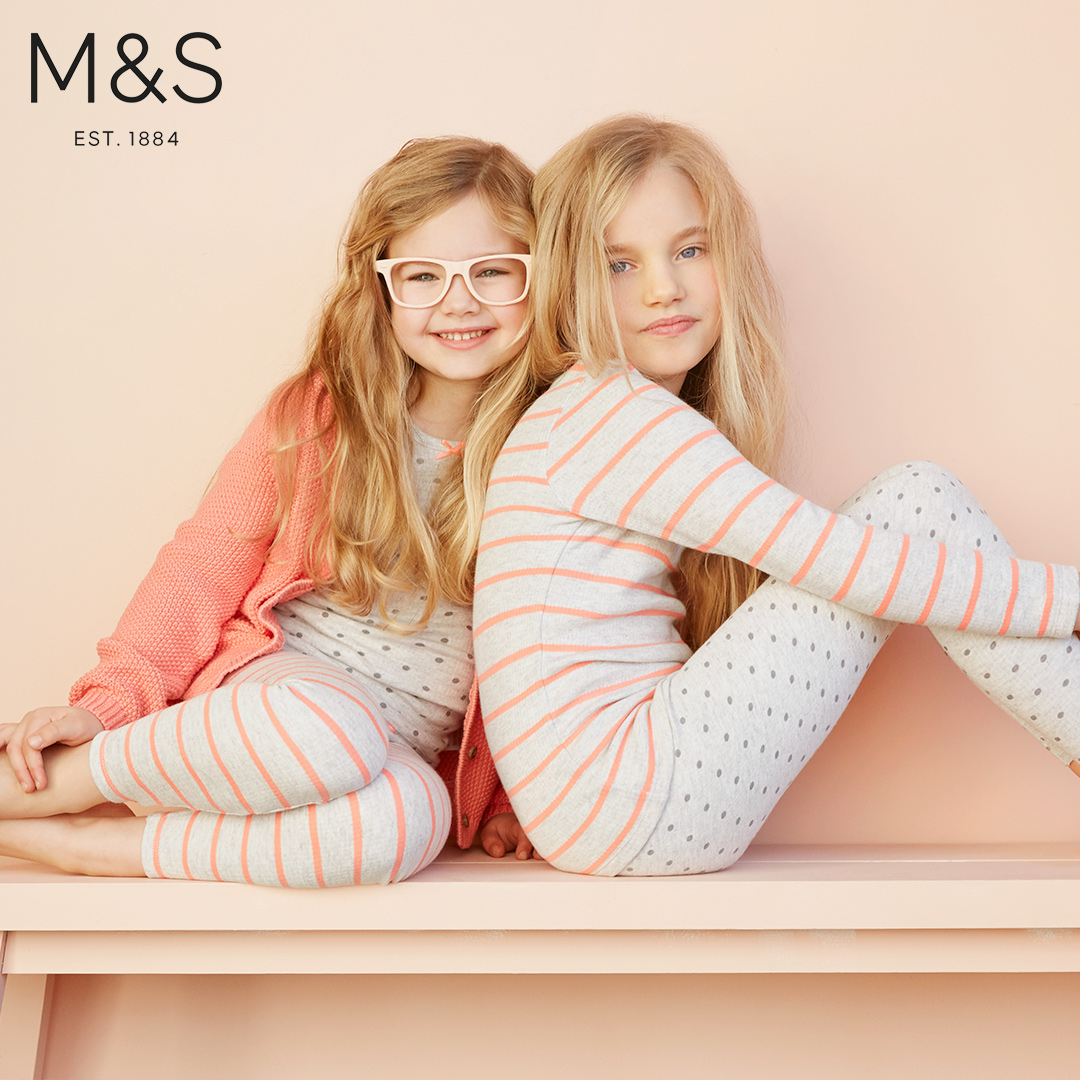 Marks and Spencers kids fashion pink girls