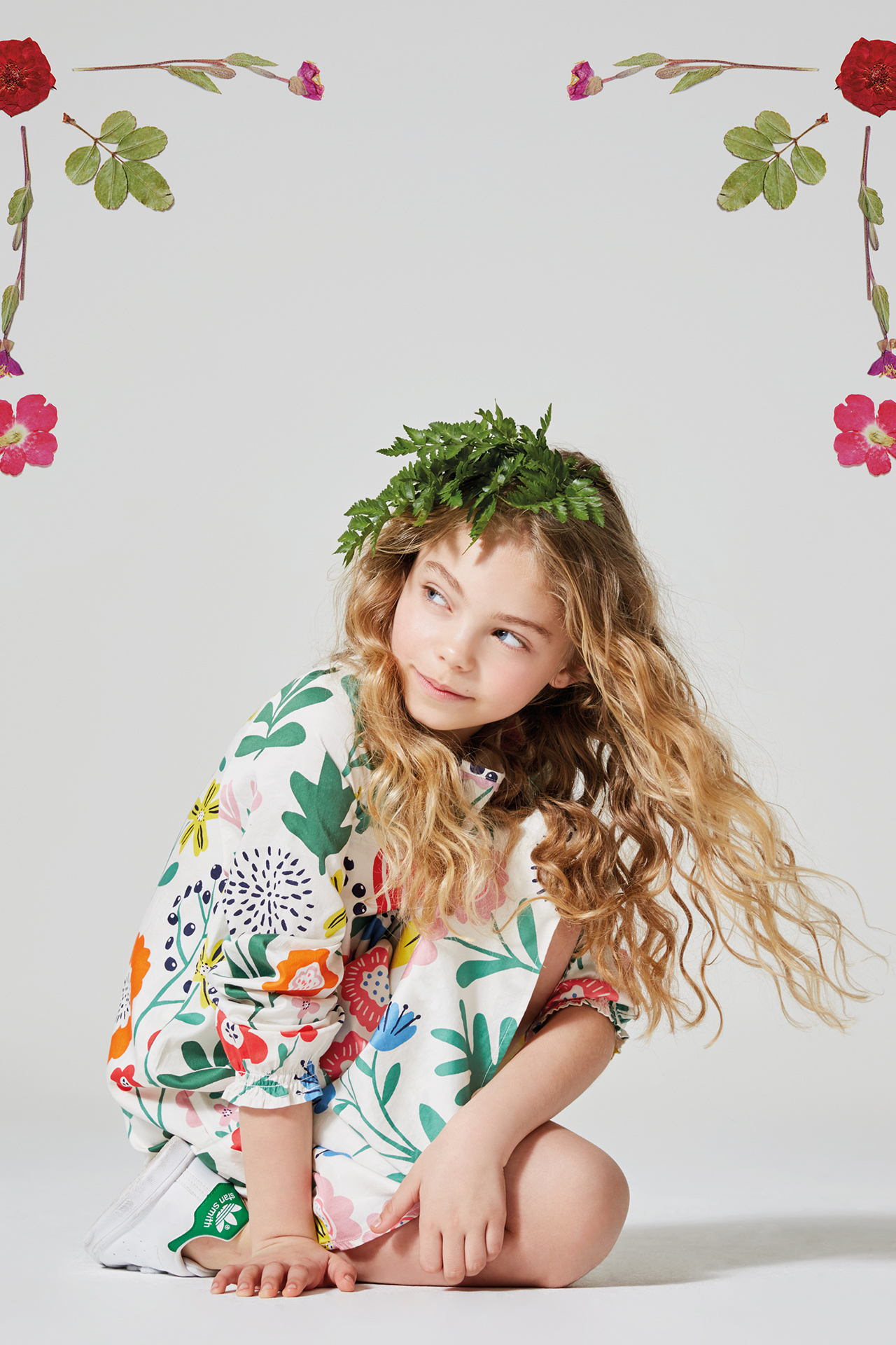 Floral kids fashion girl 5 Emma Tunbridge