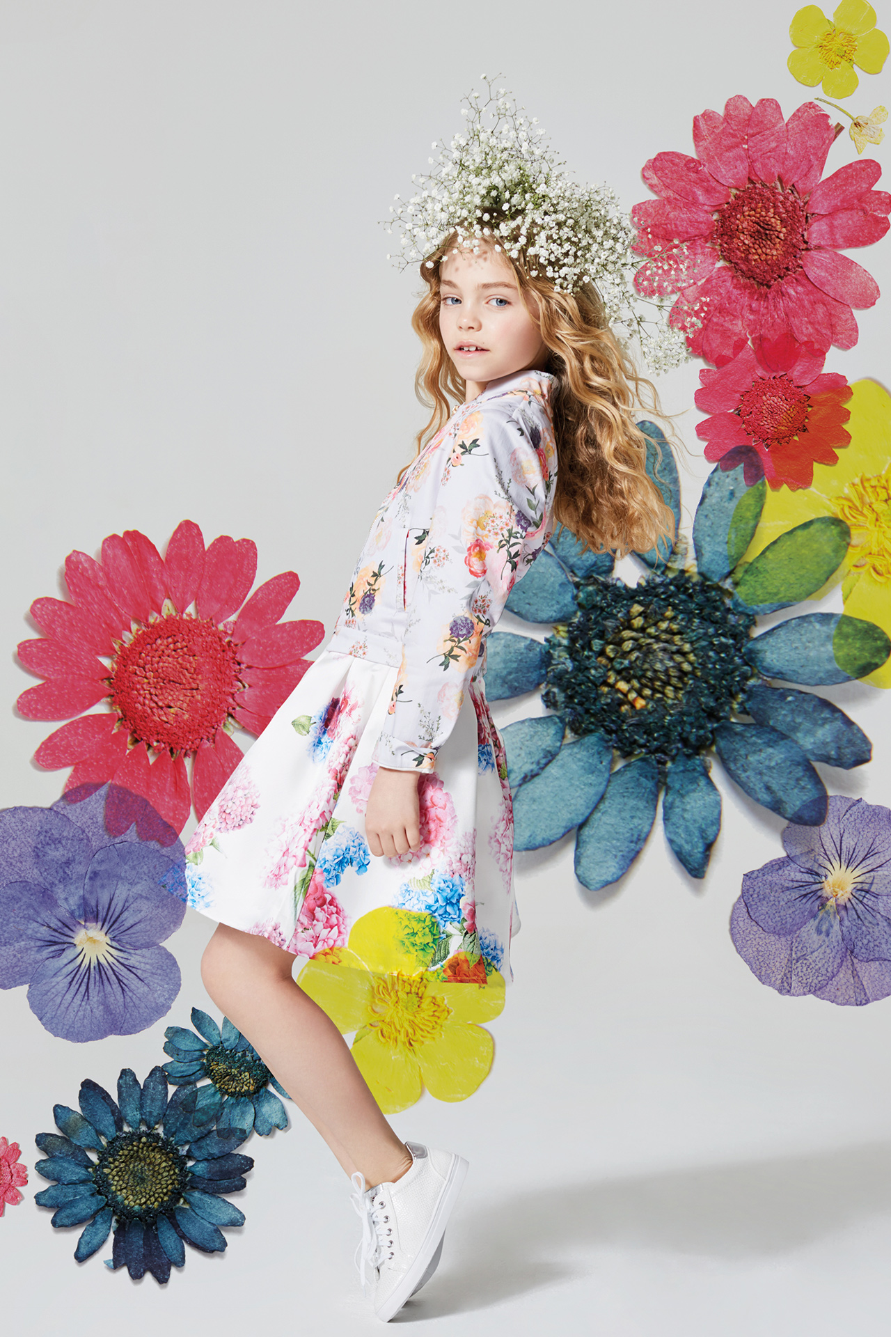 Floral kids fashion girl 1 Emma Tunbridge
