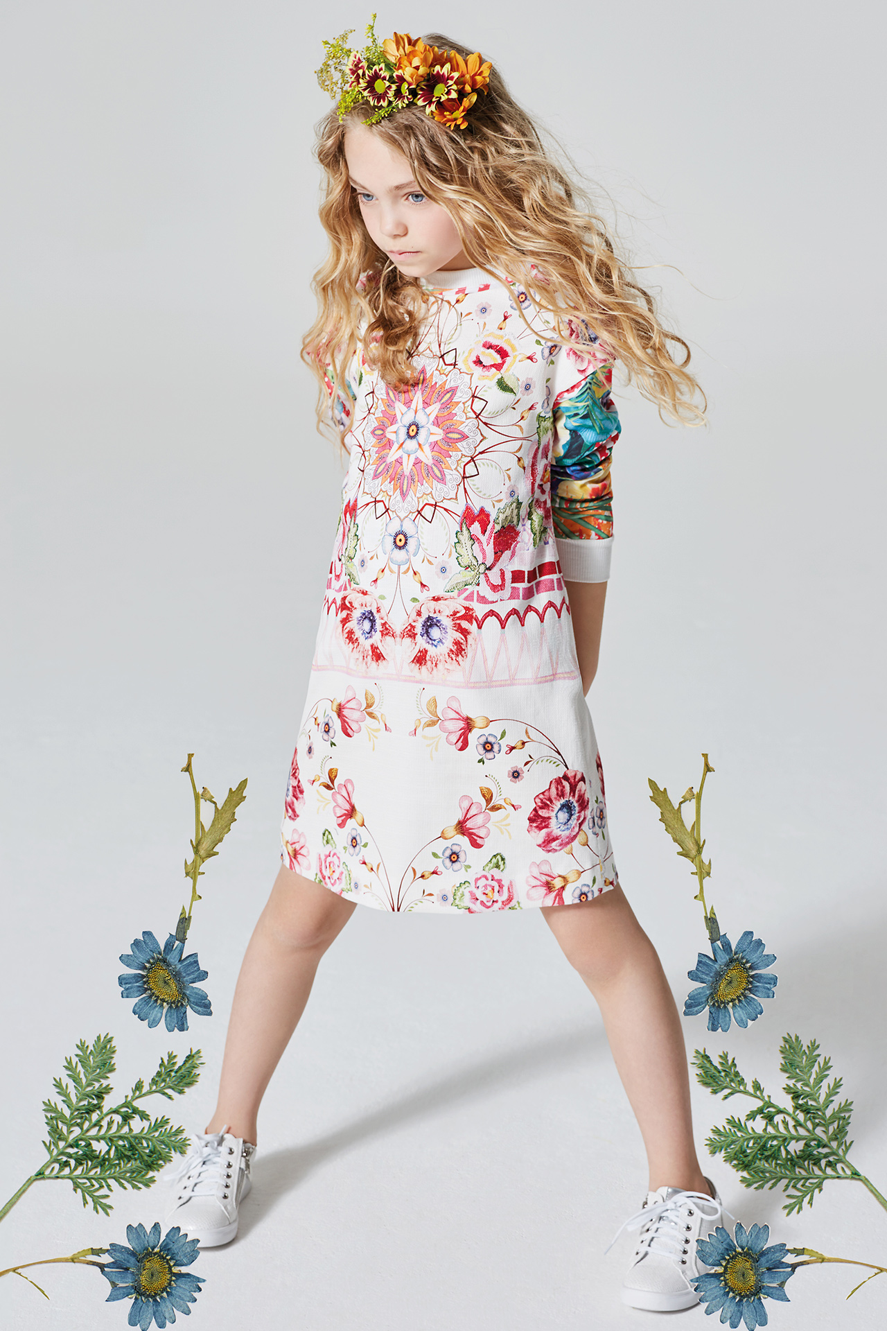 Floral kids fashion girl 7 Emma Tunbridge