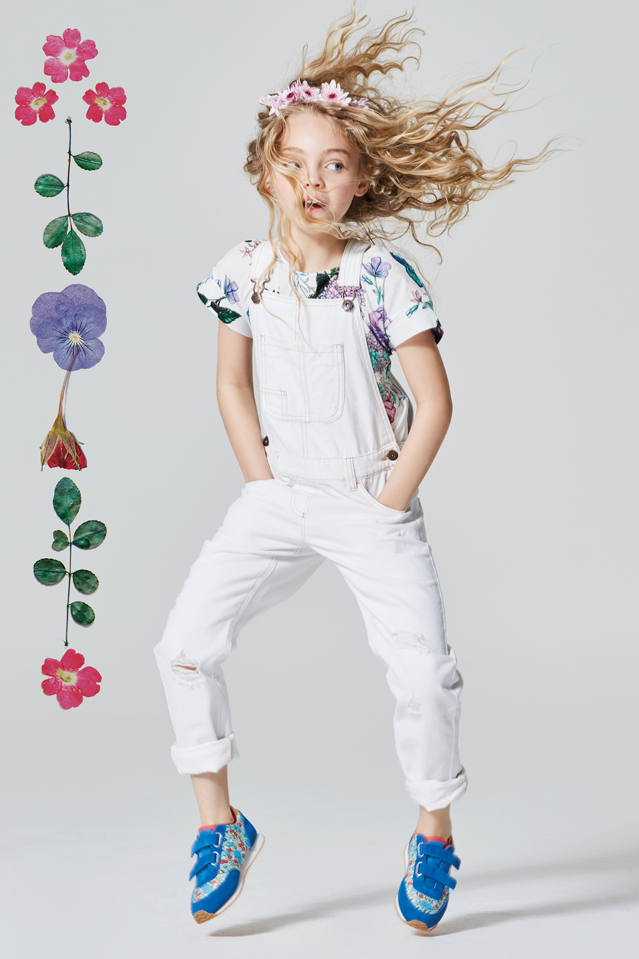 Floral kids fashion girl 2 Emma Tunbridge