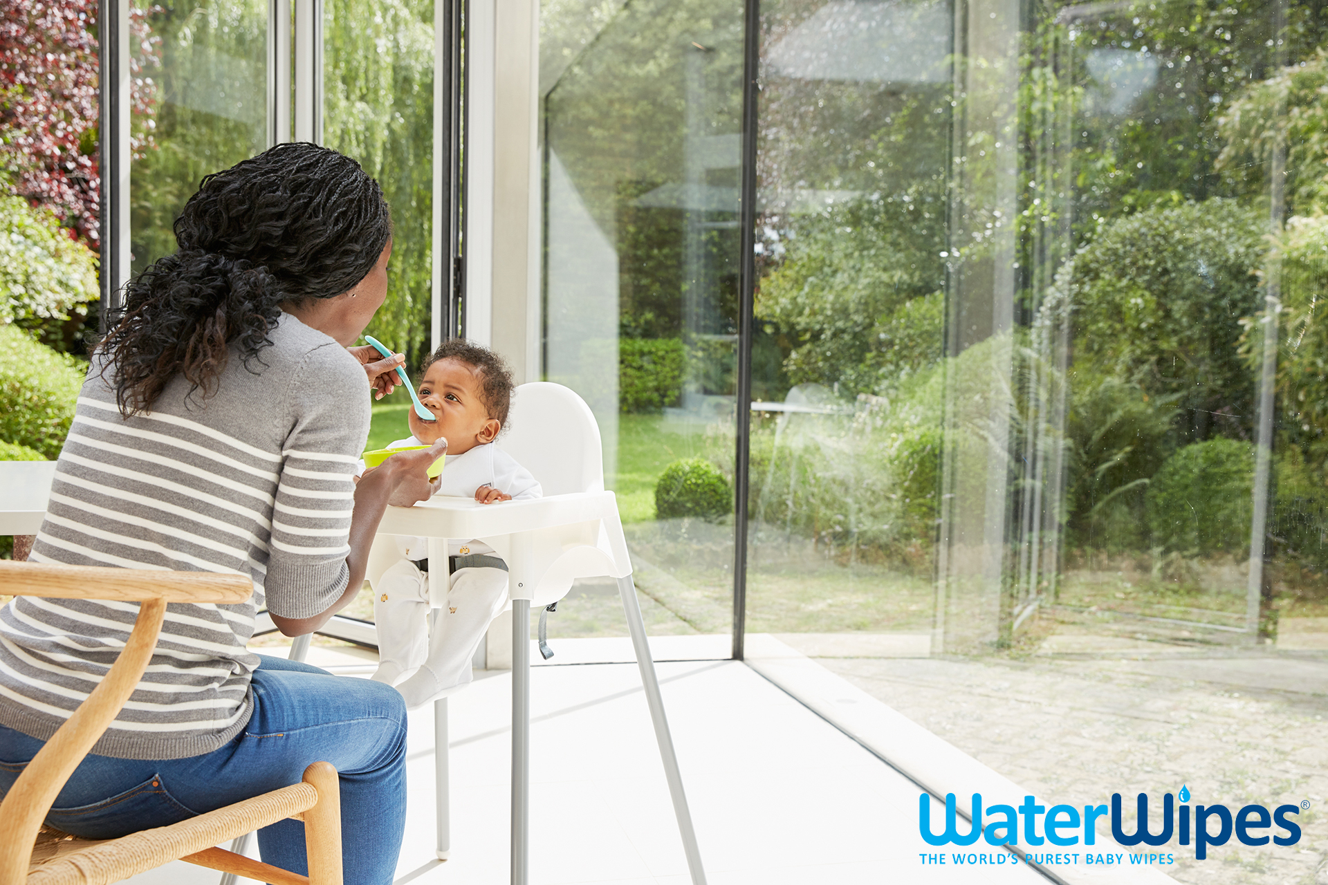 WaterWipes mother feeding baby Emma Tunbridge