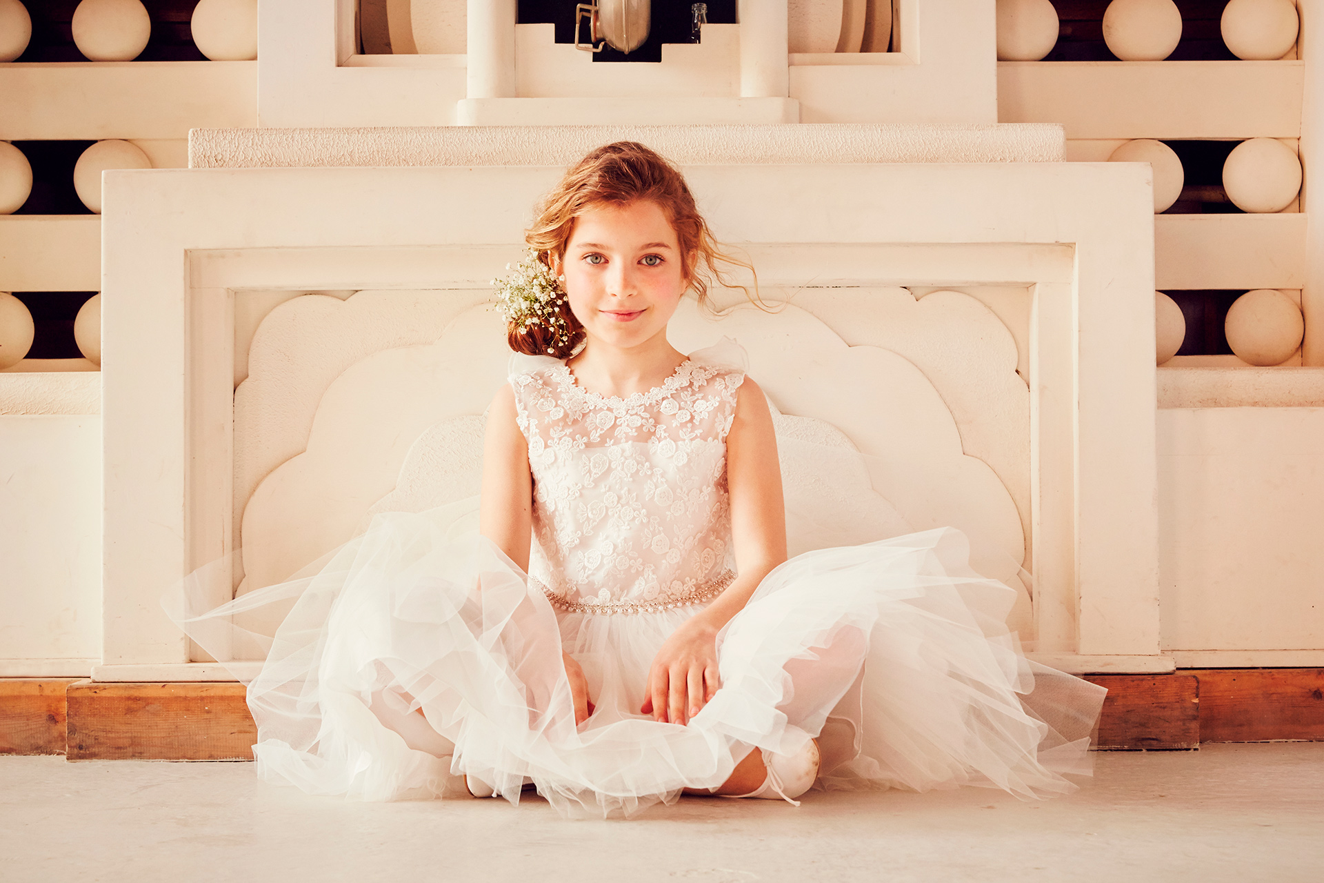 girls fashion kids occasionwear sitting ornate