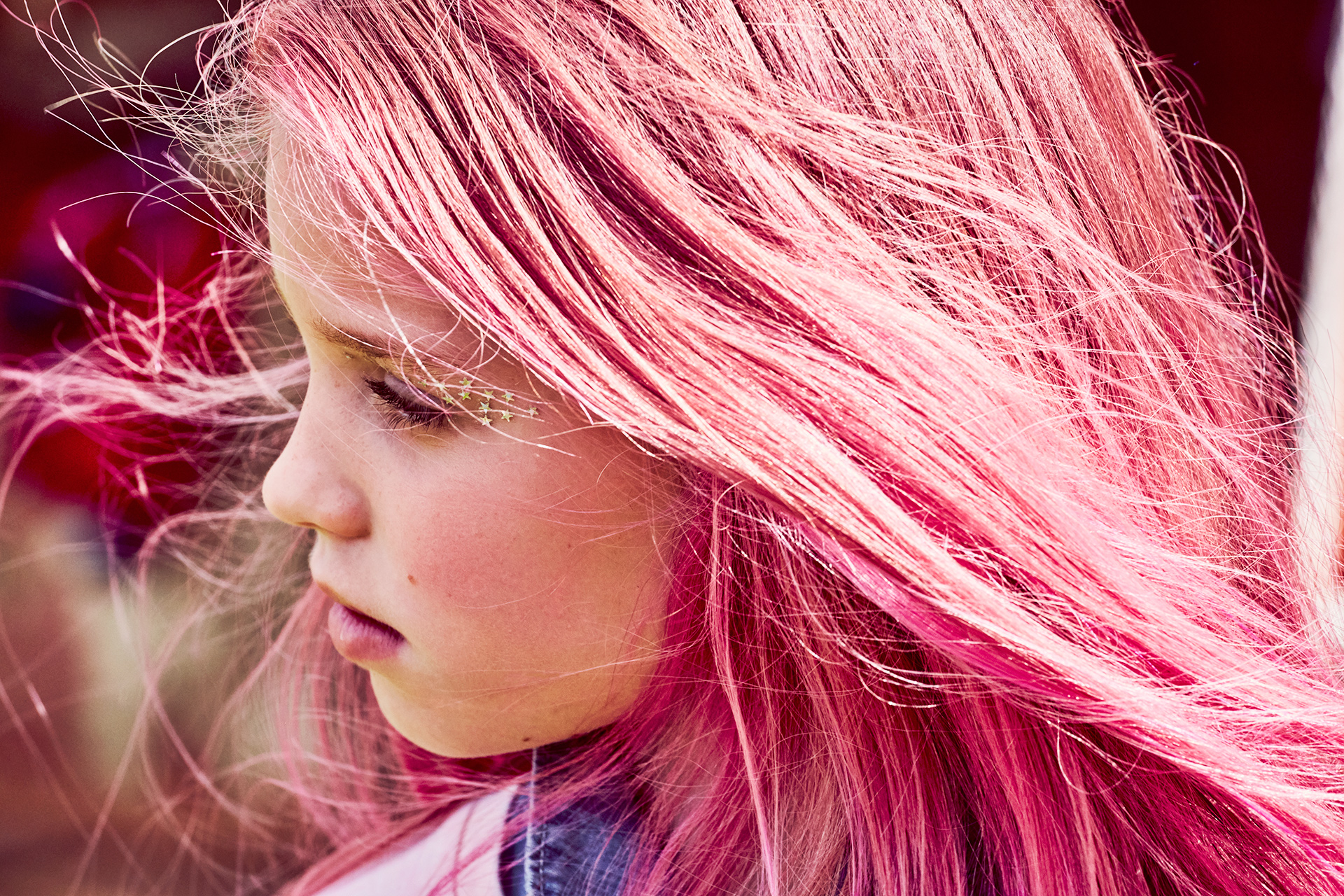 Kids fashion girl pink hair Emma Tunbridge