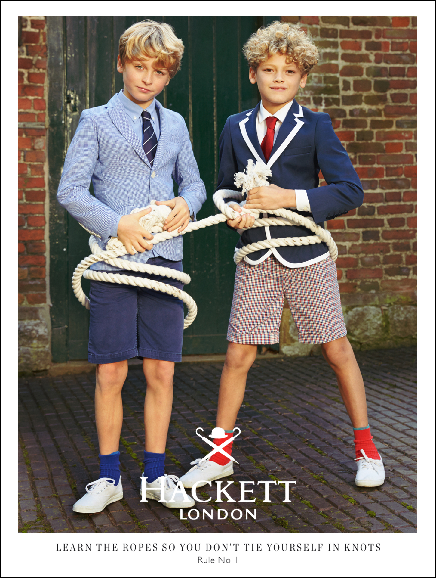 Hackett kids fashion campaign Rules for boys 3
