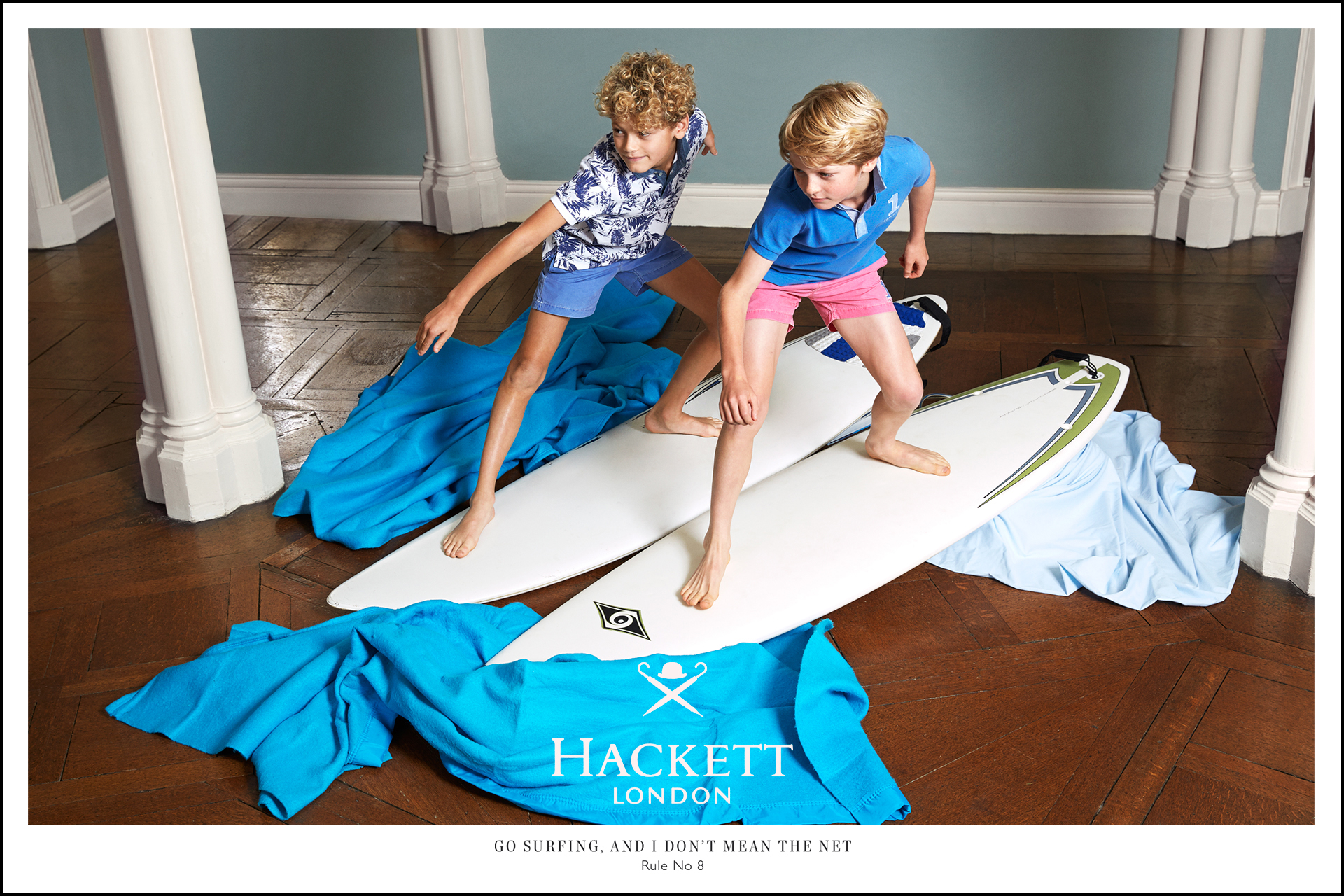 Hackett kids fashion campaign Rules for boys 5